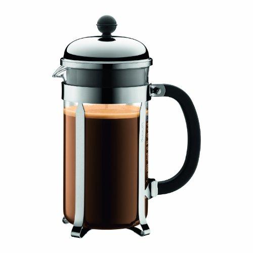 Bodum 1928-16 chambord Kaffeebereiter, 1,0 l/34 oz - glänzend
