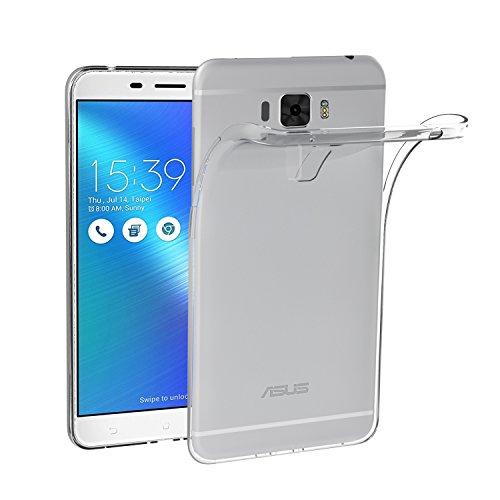 iVoler ASUS Zenfone 3 Laser ZC551KL 5.5 Zoll Hülle, Premium Transparent Klare Tasche Schutzhülle Weiche TPU Silikon Gel Schutzhülle Case Cover