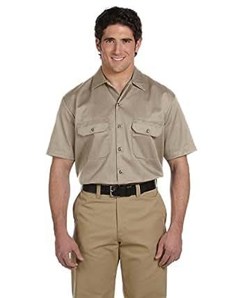 Dickies Men's 5.25 oz. Short-Sleeve Work Shirt, Khaki, XL