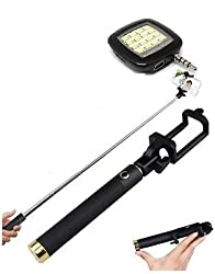 Insasta Premium Quality High End Professional Selfie Stick With Selfie Flash Light for all Phone - (Color May Vary)