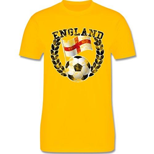 EM 2016 - Frankreich - England Flagge & Fußball Vintage - Herren Premium T-Shirt Gelb
