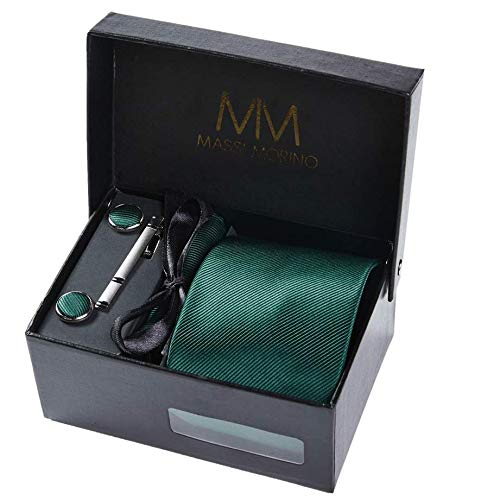 Massi Morino ® Set corbata Hombre incluye pañuelo