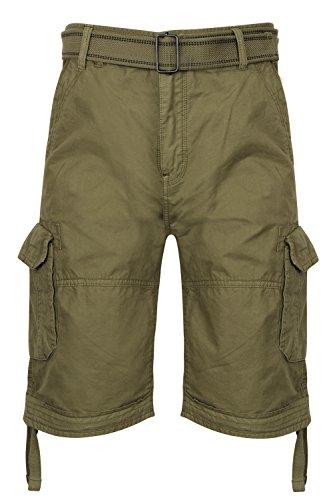 Shorts Hommes Dissident Cargo Combat Longueur Genou Ceinture Militaire DécontractéÉté Neuf Olive - 1G8851