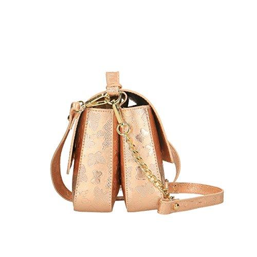 Chicca Borse Borsa a tracolla in pelle 22x19x12 100% Genuine Leather Rosa