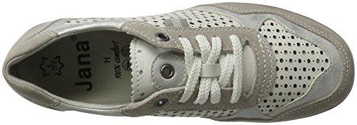 Jana 23704, Zapatillas Bajas Atléticas Para Mujer, Blancas (white Comb. 197)