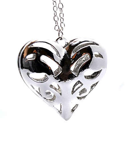 Vampire Diaries Inspiriert Caroline Forbes Herz Antik Silber Ton Halskette–Die Originale Familie–Azteken Herz