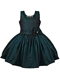 Wish Karo Baby Girls Frock Birthday Dress for Girls - Satin - (bxa186)