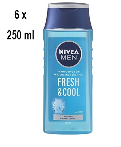 "6 x NIVEA Men Shampoo ""Fresh & Cool"" - für normales Haar - 250 ml"