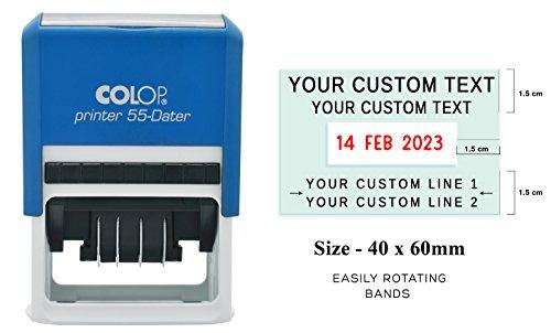 Datario timbro d'inchiostro COLOP 55 Datario timbro testo personalizzato con timbro di gomma Data Ufficio stazionario