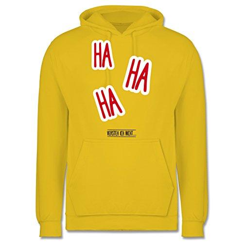 Sprüche - Ha Ha Ha - Versteh ich nicht - Männer Premium Kapuzenpullover / Hoodie Gelb