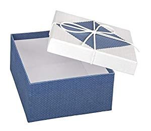 Idena- Caja de Regalo, Color Azul, Blanco (30218)