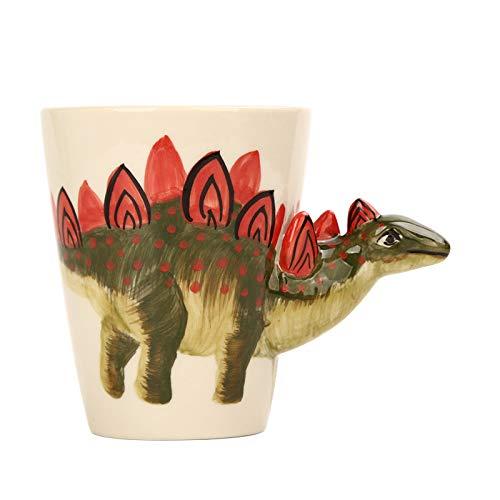 BOOMZZ 3D Stereo Dinosaurier Tasse Handbemalte Keramik Tasse Tier Tasse Bemalte Tasse Kaffeetasse Cartoon 350Ml 11CM * 9CM Dinosaurier A