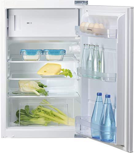 Privileg PRFIF 154 A++ Einbau-Kühlschrank mit Gefrierfach/A++/ 118 L Gesamtnutzinhalt / 16 L Gefrieren /41 dB/ 141 kWh kWh Strom/Jahr / 4-Sterne-Gefrierfach/LED-Licht/Schlepptürmontage (Nische 88 cm)