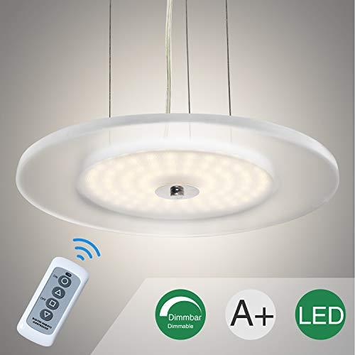 Pendelleuchte Höhenverstellbar Leuchte aus Acryl LED-Platine Hängelampe Dimmbar Stufenlos Deckenleuchte Wohnzimmerlampe Deckenstrahler Innenleuchte Modern Deckenspot Küchenlampe Küchenleuchte Warmweiss