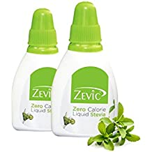 Zevic Sugarfree Stevia Liquid, 25g (Pack of 2)