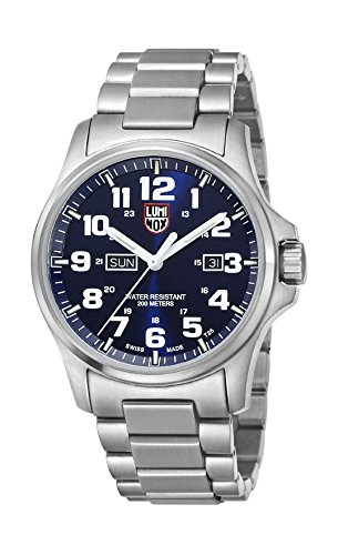 Luminox Men's Atacama Field Day Date 45mm Steel Bracelet & Case Quartz Blue Dial Analog Watch 1924M