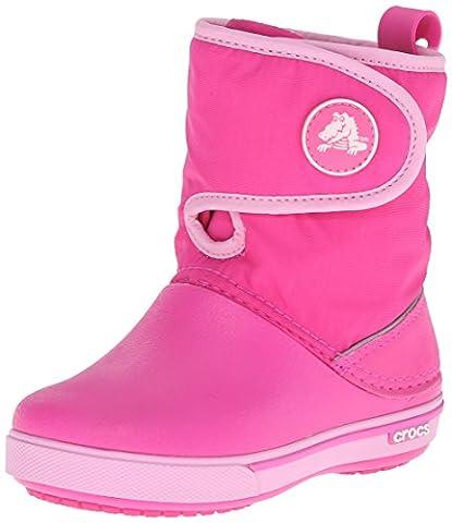 Crocs Crocband II,5 12905 Unisex - Kinder Halbschaft Gummistiefel, Pink (Neon Magenta/Carnation 6L4), 23/24 EU