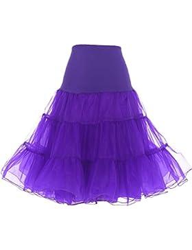 Dresstells reg;Mujeres Cancan 50s Retro Rockabilly Enaguas Miriñaques Faldas