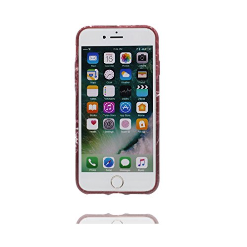 [ Iceberg Nero ] iPhone 6 Plus/6s Plus Marble Custodia, Cover [Stone Texture Collection] Stampa in marmo TPU Soft Custodia per iPhone 6 Plus/ 6S Plus (5.5) Case anti-shock anti-graffi Color 7