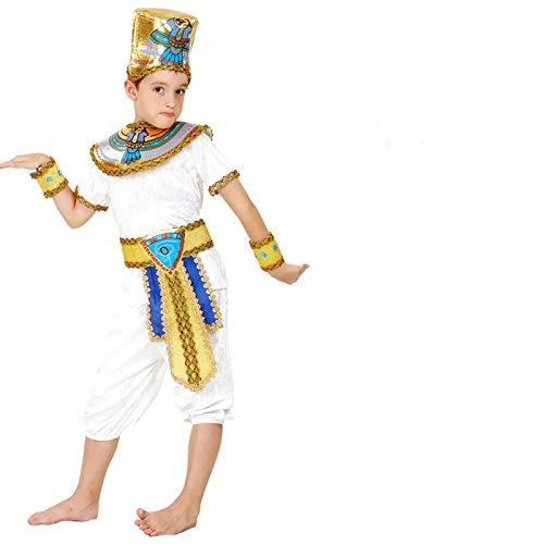 (thematys Pharao Ägypten Kostüm-Set für Kinder - perfekt für Fasching, Karneval & Cosplay - Verschiedene Größen (XL))