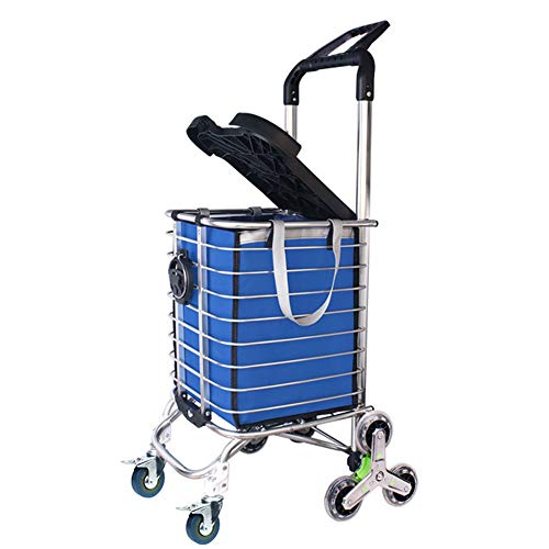 7f509074fe14 ZSLLO Staircase Shopping Cart Shopping Cart Trolley Pack Foldable Reusable  Grocery Shopping Bag Eco-Supermarket Bag Easy To Use And Heavy Bolsas