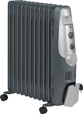 Mobile Standheizung mit 7 Rippen 1500 Watt (Öl-Radiator, 3 Stufen, Thermostat, Sicherheitskontakt-Schalter) von AEG