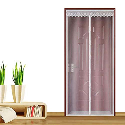 YXDDG Schwerer netzvorhang Magnetische bildschirmtür Haustier und kinderfreundlich Full-Frame-siegel fliegen mücken Bug insektenschutz für schiebetüren Glas-Weiß 180x240cm(71x94inch) -
