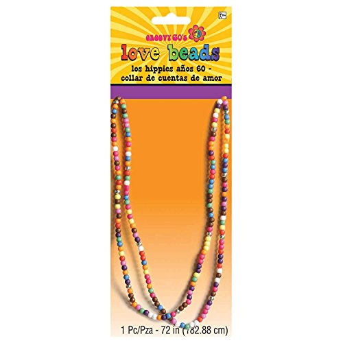 Multi-coloured Love Beads for Hippy Dress-Up.