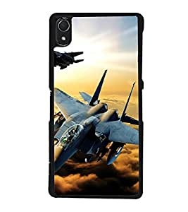 PrintVisa Designer Back Case Cover for Sony Xperia Z3 :: Sony Xperia Z3 Dual D6603 :: Sony Xperia Z3 D6633 (Fighter Jets With Missiles Sky Clouds)