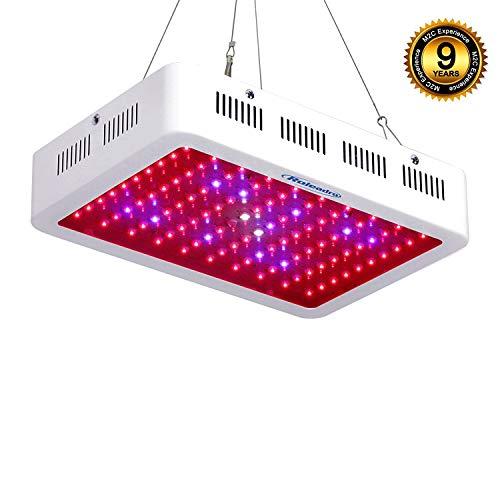 Roleadro LED Horticole Lampe 300W,Lampe de Croissance et LED Floraison Horticole pour Plante Culture Indoor avec IR UV Lumière