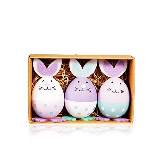 Dapei Ostertag Kinder Spielzeug 3 Stück Spielzeug gefüllt Ostereier DIY Dekor begünstigt Spielzeug Geschenk