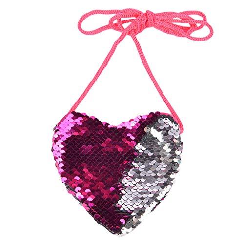 (Beikoard Kinder Handtaschen,Nette Frauen Mädchen Meerjungfrau Pailletten Münze Geldbörse Mini Messenger Bag Handbags)
