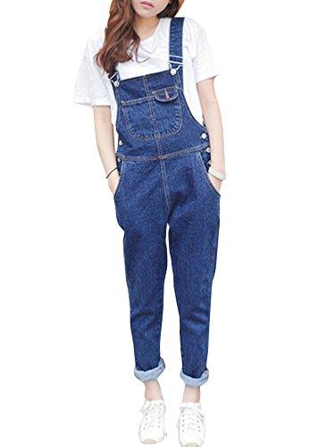 Women Casual Denim Wash Jeans Pants Demin Overall Ladies Jumpsuit Dungaree Test