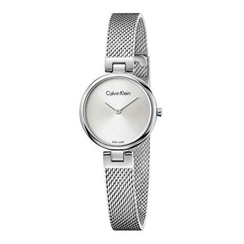 Calvin Klein Damen Analog Quarz Uhr mit Edelstahl Armband K8G23126