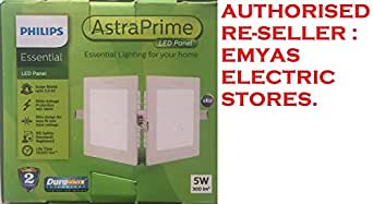 5W 300LM PHILIPS ESSENTIAL LED PANEL ASTRA PRIME [SQUARE] [CUT OUT SIZE : 75MM] [COOL WHITE - 6500K] [DURAMAX TECHNOLOGY LONG LASTING BRIGHTNESS] [TWO YEARS MANUFACTURERS WARRANTY]