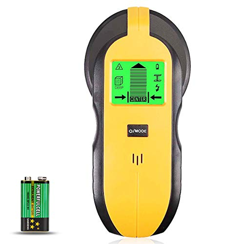 McDoo! Ortungsgerät - 4 in 1 Multifunktions Wand Scanner Detektor Stud Finder - Metalldetektor Leitungssucher mit LCD für Metall, Rohre, Holz, Stromleitung, AC Spannungsführenden