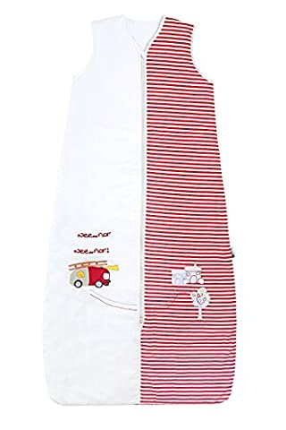 Schlummersack Kleinkinder Ganzjahres Schlafsack 2.5 Tog - Feuerwehr - 130 cm/3-6 Jahre (Hello Kitty Hochstuhl)