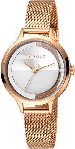 Esprit Reloj Analógico para Mujer de Cuarzo con Correa en Acero Inoxidable ES1L088M0035