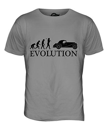 CandyMix Oldtimer Evolution Des Menschen Herren T Shirt Hellgrau