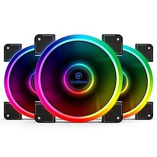 anidees AI Aureola 140 mm RGB-Lüfter für Gehäuselüfter, CPU-Kühlerlüfter, Wasserkühler, 3er-Pack mit Fernbedienung - RGB (AI-AUREOLA14)