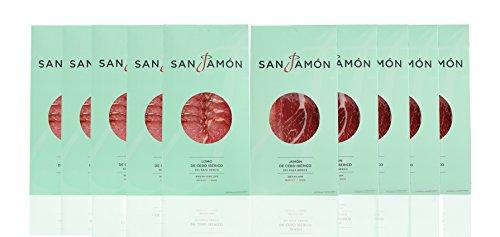 San Jamon Lote Jamón y Lomo Ibéricos Loncheados 10x100g