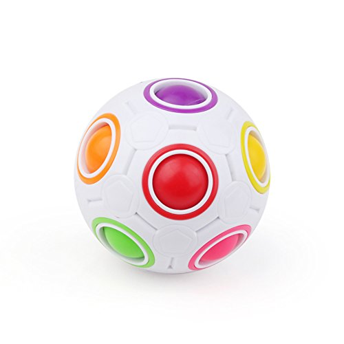 (TBGGFSD Magic Rainbow Ball Rainbow Rubik 's Cube Ball Dekompression Rubiks Würfel Puzzle Ball Bildungs-Spielzeug)