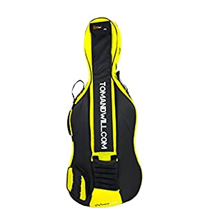 Tom & Will 49VC44-735 Superior 4/4 Full Size Cello Gig Bag - Yellow
