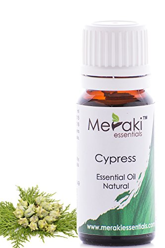 Meraki Essentials Cypress Essential Oil (10 ML) 100% Pure & Natural Astrigent, Aromatherapy Massage
