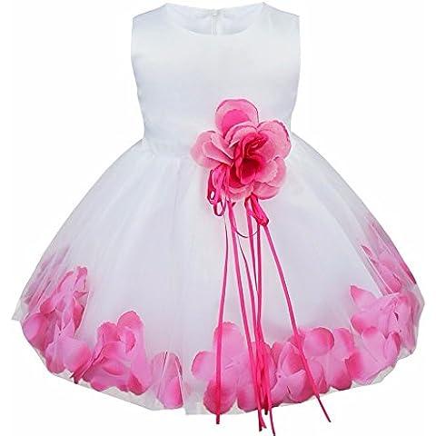 iEFiEL Vestido Elegante de Flores de Pétalos de Princesa para Bebé Niña