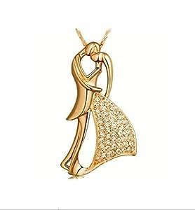 LUXURY - Collana pendente da donna modello LOVER con catenina e ciondolo. Idea regalo per San Valentino, Natale e Festa della Mamma