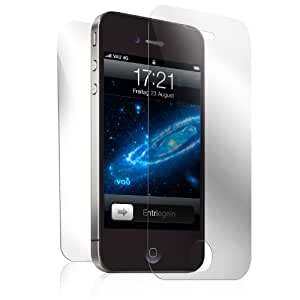 vau Screengards - Display Schutz-Folien für Apple iPhone 4S / 4 ( 6er-Set Variation: 2 x Front matt + 2 x Front ultra-clear + 2 x Rückseite )