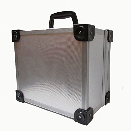 Generic * * en aluminium L verrouillable Meuble Alu Coque Cosmétique ASE Cosme Boîte de rangement Osmetic T Grande Aluminium Argenté minimum Outil outils de stockage