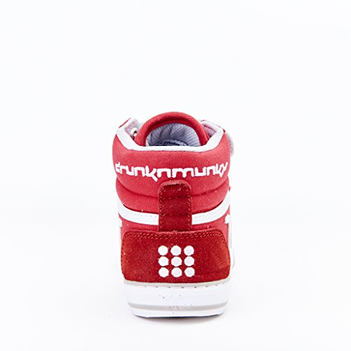 DrunknMunky Boston Classic, Chaussures de Tennis fille Rosso/grigio