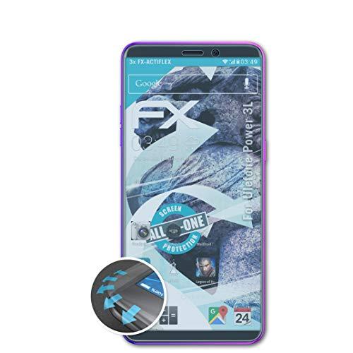 atFolix Schutzfolie passend für Ulefone Power 3L Folie, ultraklare & Flexible FX Bildschirmschutzfolie (3X)